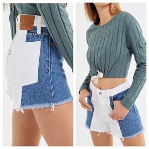 NWT Levi's Two Toned High Rise Wedgie Jean Shorts